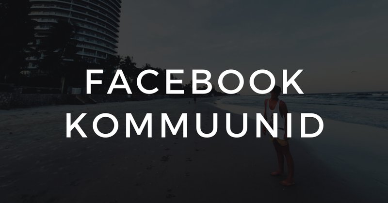 Facebook kommuunid in or out